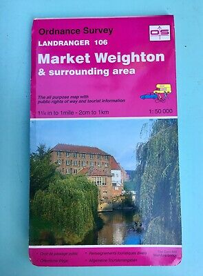 Ordnance Survey Landranger Map No.106 1984 Market Weighton & Surrounding Area