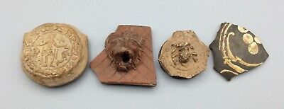 Ancient Roman Terracotta Pottery Shards Group Of Four