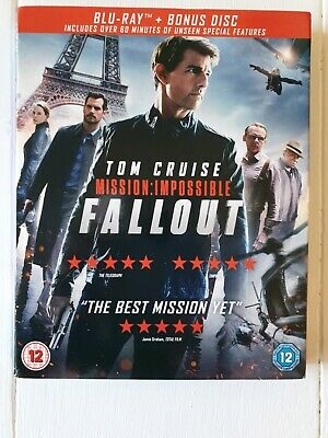MISSION IMPOSSIBLE- FALLOUT Blu-Ray with Bonus Disc & SLIP COVER       MINT