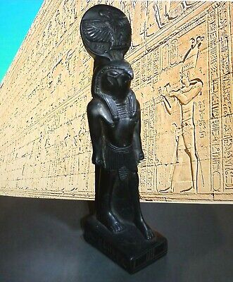 Vintage Egyptian Horus Statue,Ancient Egyptian God, Black, Heavy