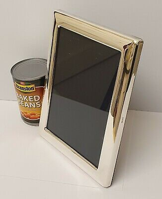 vintage solid silver mappin and webb photo frame c1986 5 1/4 x 7 1/4 pic size
