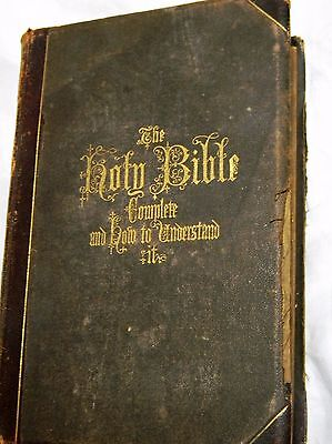 1871 Hitchcock's Complete Analysis of the Holy Bible Nice Illustrations Map