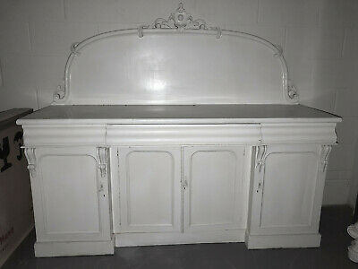 Antique Victorian Mahogany Chiffonier Shabby Chic Painted Side Board