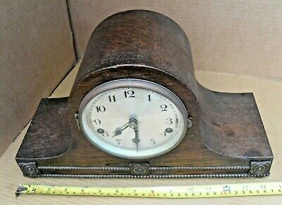 Vintage 5 Chime Tune Mantelpiece Clock Mantel Brass Movement With Pendulum