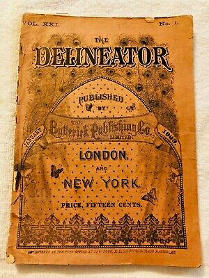 Delineator Butterick Magazine January 1883 Sewing
