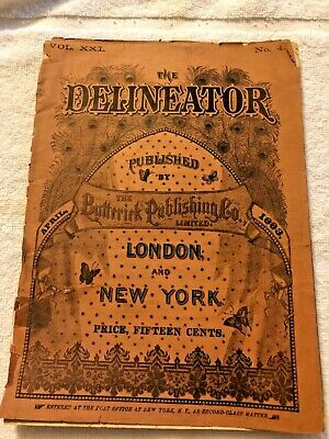 Delineator Butterick Magazine April 1883 Sewing