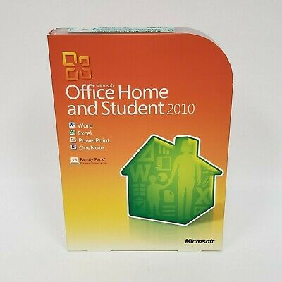 Microsoft Office Home and Student 2010 w/ Product Key 3x Family Pack Windows 7