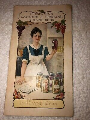Preserving Canning & Pickling Dr D Jayne Medicinal Brochure 1927 Turner, OR