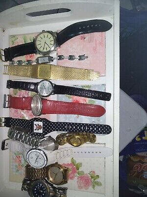 Various Job Lot Of Watches 11in Total Not Checked Sekonda Casio Seiko...