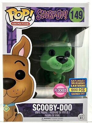Funko Pop! Animation #149 GREEN FLOCKED SCOOBY-DOO 2017 SDCC 1/1000