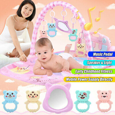 3-in-1 Baby Infant Gym Play Mat Fitness Music Fun Piano Pedal Educational