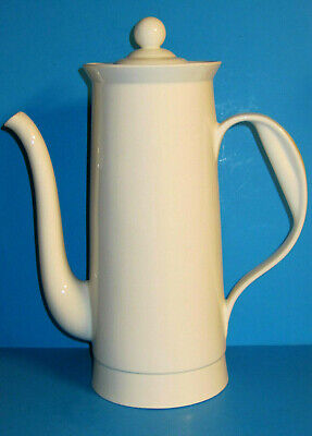 RARE Ernest Sohn Mid Century Modern Oversized White Porcelain Coffee Pot ~Unused
