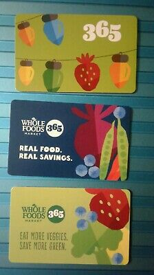 Whole Foods  Market 3 Different Gift Cards, Collectible, New