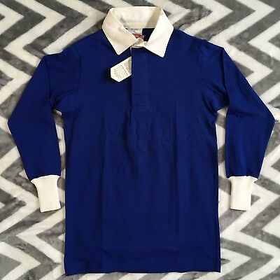 Mens Blue RUGBY Shirt MAXMORE Cotton Vintage Size 42 South Africa New with tags