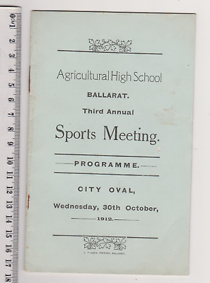 Agricultural High School Ballarat Sports Meeting  City Oval 1912