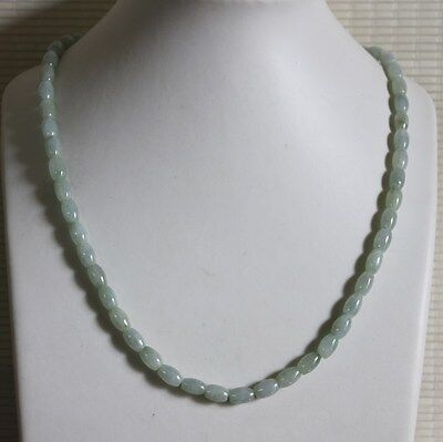 100% Natural JADE (Grade A) Beautiful Untreated Icy Light Green Jadeite Necklace