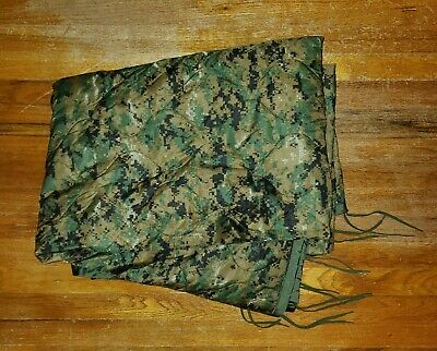 """Liner, Poncho, Reversible. Woodland Marpat and Coyote. Marine Corp. 58""""x86"""""""