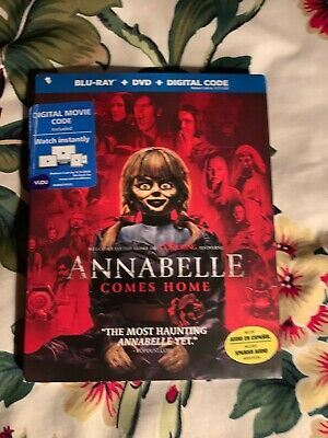 Annabelle Comes Home  Blu-Ray+Dvd+Digital Code  With Slip Cover! Factory Sealed