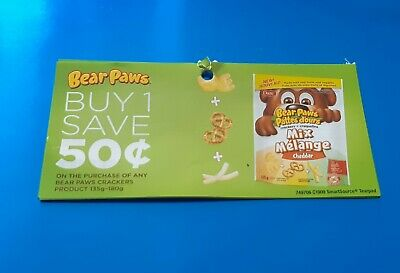 10x$0.50 off their paws crackers