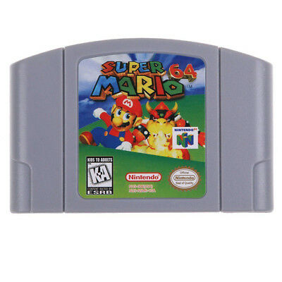 AU Card For Nintendo 64 N64 Mario Smash Bros Mario Party Game Cartridge Console