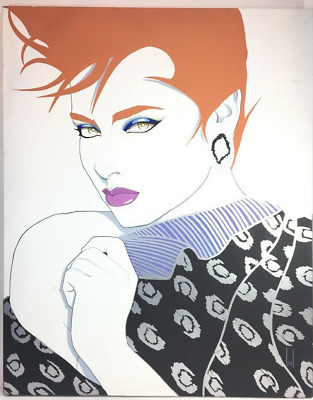 Large Steve Leal Signed Original Art Painting: Liza - 24 x 30 inches