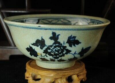 china old Blue and white porcelain hand-painted Guiguzi bowl /xuande make Bb02B