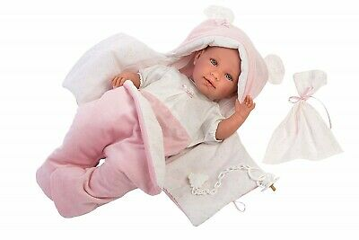 Llorens Doll Amelia Crying Soft Body Baby Girl 42cm New 74060
