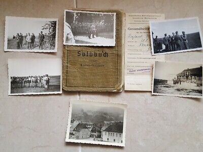 WW2  German 6 Photos . 15 & 14 INFANTERIE DIVISION   + Soldbuch