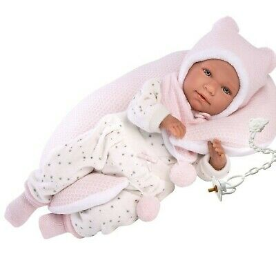 Llorens Doll Emily Crying Soft Body Baby Girl 42cm New 74052