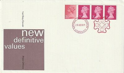 26 August 1981 Digest Coil Pre First Day Cover Npm London Ec1 Shs