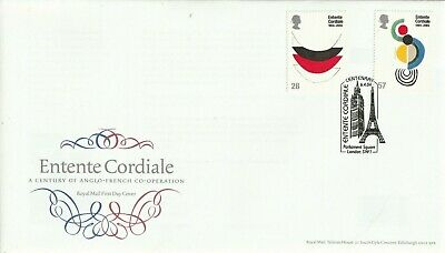 6 April 2004 Entente Cordiale Royal Mail First Day Cover Parliament Square