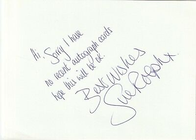 Gb Swimmer Sue Rolph Hand Written & Signed Card