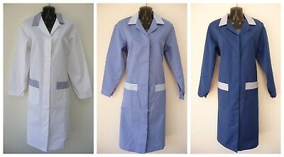 Alexandra Vintage School Dinner Lady House Keeping Lab Overall Coat UK MADE  F11