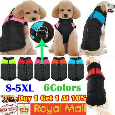 Waterproof Pet Dog Clothes Winter Autumn Warm Padded Coat Vest Jacket Apparel #