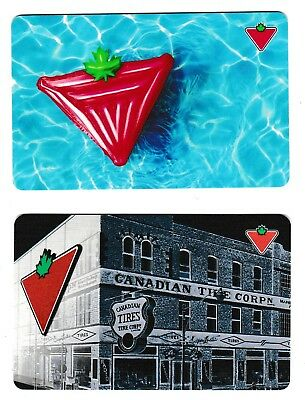 2 Collectible CANADIAN TIRE CanTire gift cards Canada #02 Kanada