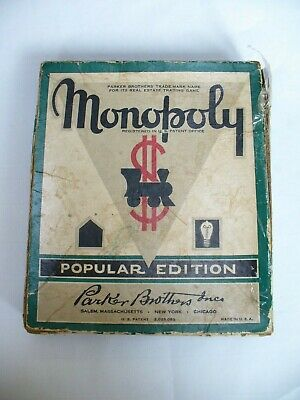 Vintage 1950's American Monopoly. (No Board) Spares. Parker Brothers Inc.