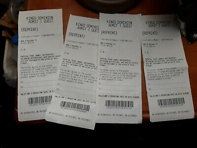 One Tickets to Kings Dominion / Fast Shipping / Low Price
