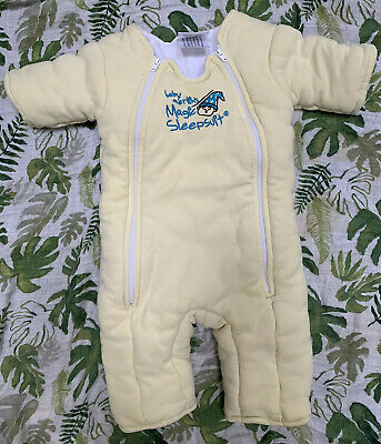 Baby Merlins Magic Sleepsuit Large 6-9 Months 18-21lbs Yellow