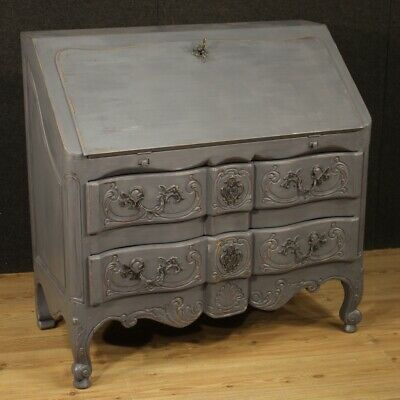 Fore secretaire furniture desk secrétaire wood painting shabby antique style