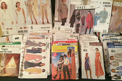 Huge Lot 143 Sewing Patterns Vogue, Simplicity, Butterick, McCall's