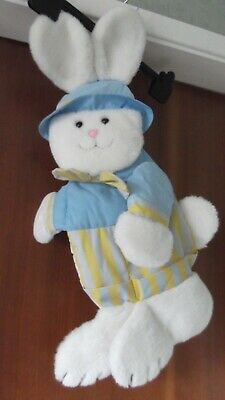 Hanging rabbit bunny decoration for nursery, pastel colours, VGC