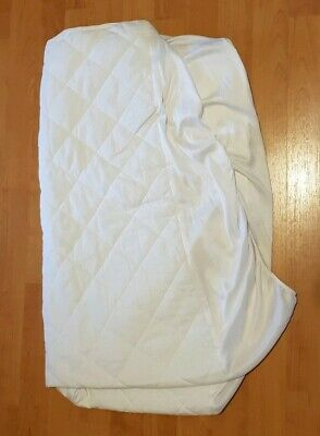 m & s waterproof white quilted cotbed matress protector marks and spencer