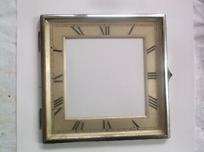Glass / Rim/Face  From An Old   Mantle Clock  5 7/8 Inch Square Ref Dave 4