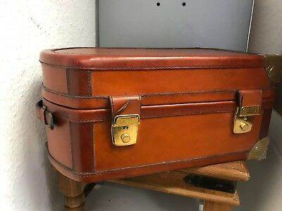 Leather Suitcase 30 Cm. Top Zustand
