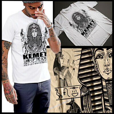 Kemet Ancient Egypt Pharaoh T-Shirt Egyptian Hieroglyphic Size Small To 3XL