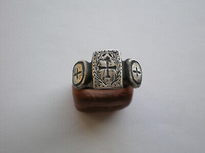 Rare Ancient Roman-Byzantine Legionary Silver Ring