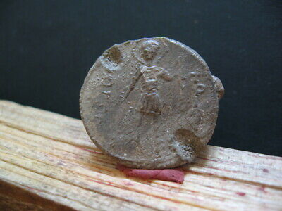BYZANTINE MEDIEVAL LEAD SEAL BULA 9-11 ct.A.D. 14,45 gr. With INSCRIPTIONS 28 mm