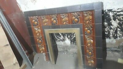 Victorian era , tiled fireplace, surround/mantle piece and insert