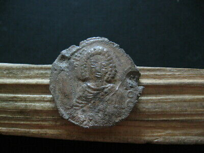 ARCHANGEL MICHAEL BYZANTINE MEDIEVAL LEAD SEAL 9-11 ct.A.D. 30 mm. INSCRIPTIONS