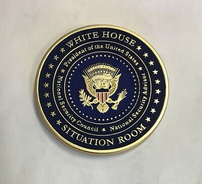 CHALLENGE COIN 2019 Situation Room WHITE HOUSE Donald Trump WEST WING JFK